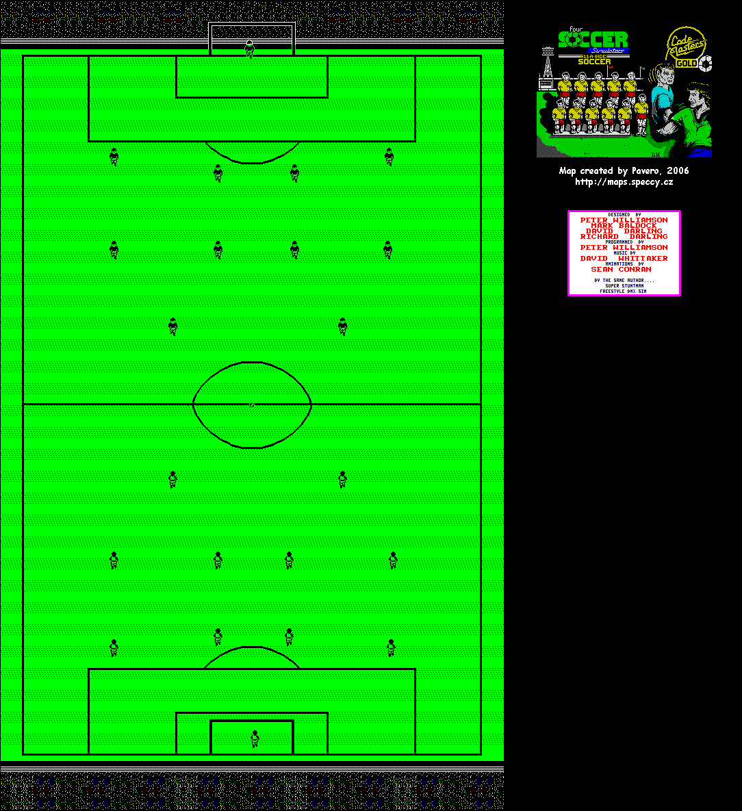 Four Soccer Simulators - 11 A Side Soccer - The Map