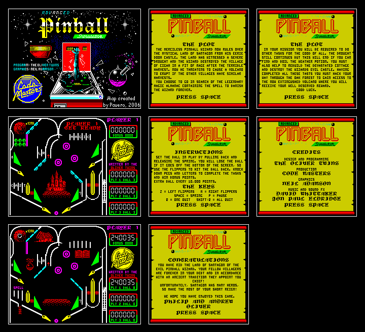 Advanced Pinball Simulator - The Map