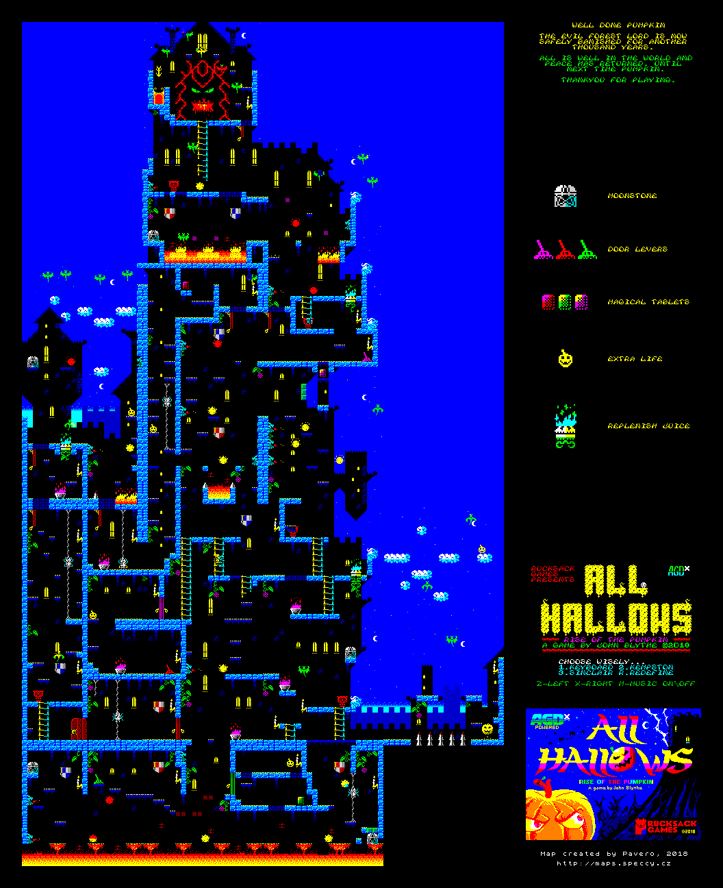 All Hallows - Rise of the Pumpkin - The Map