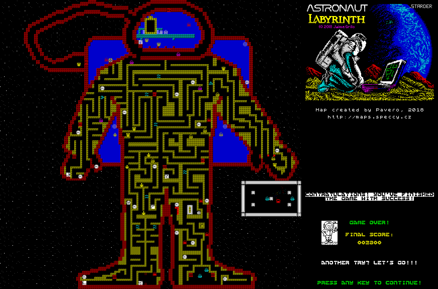 Astronaut Labyrinth - The Map