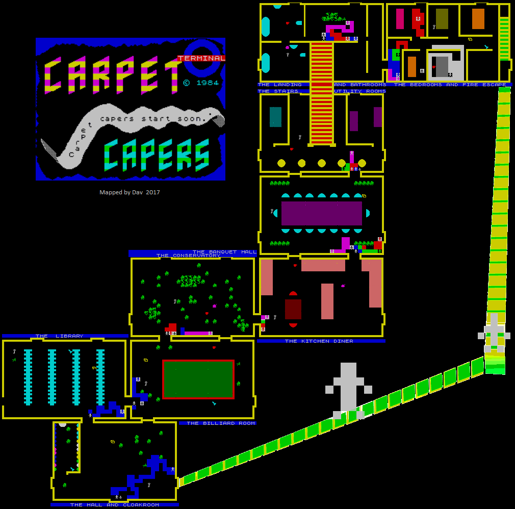 Carpet Capers - The Map