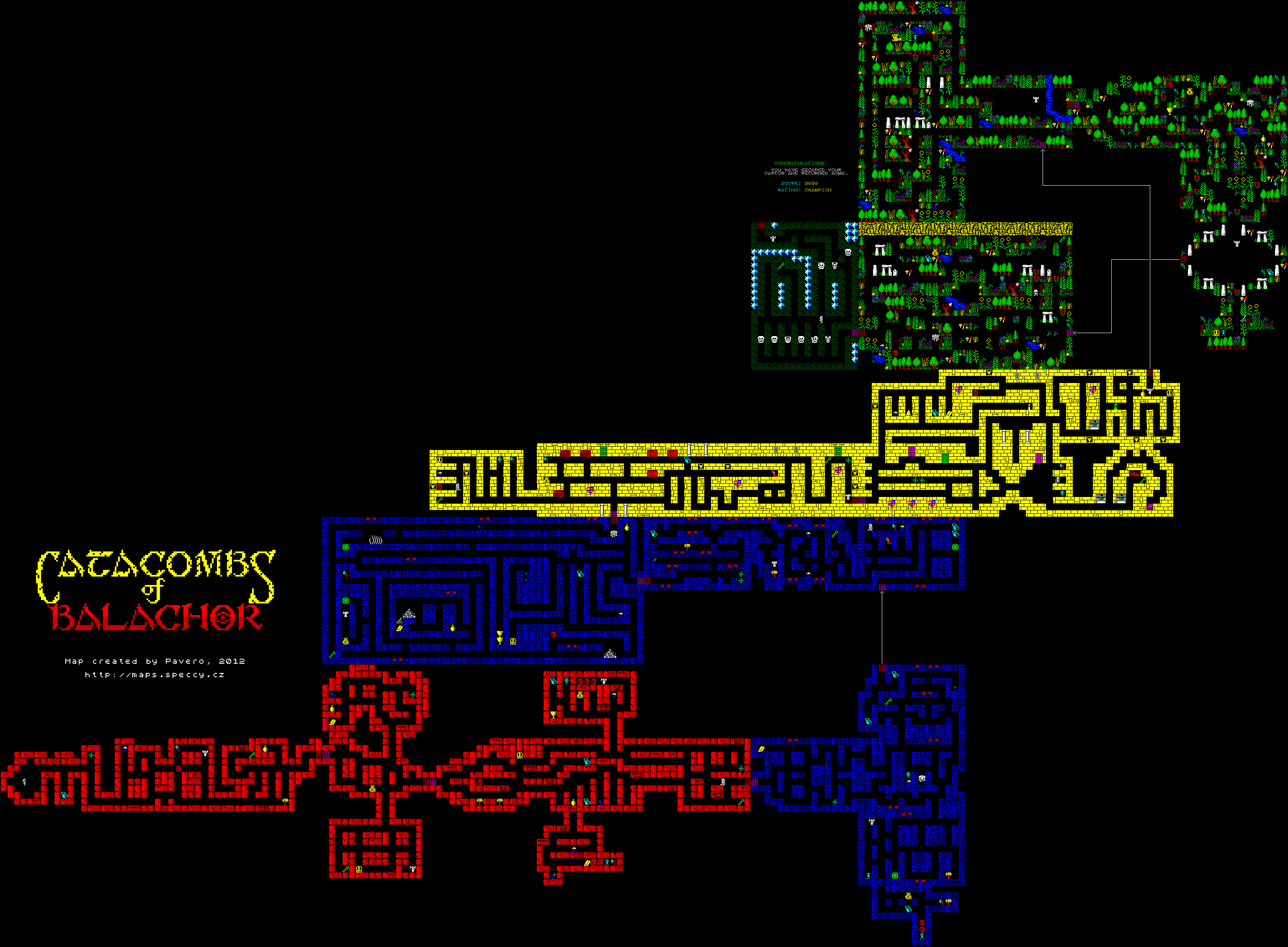 Catacombs of Balachor - The Map