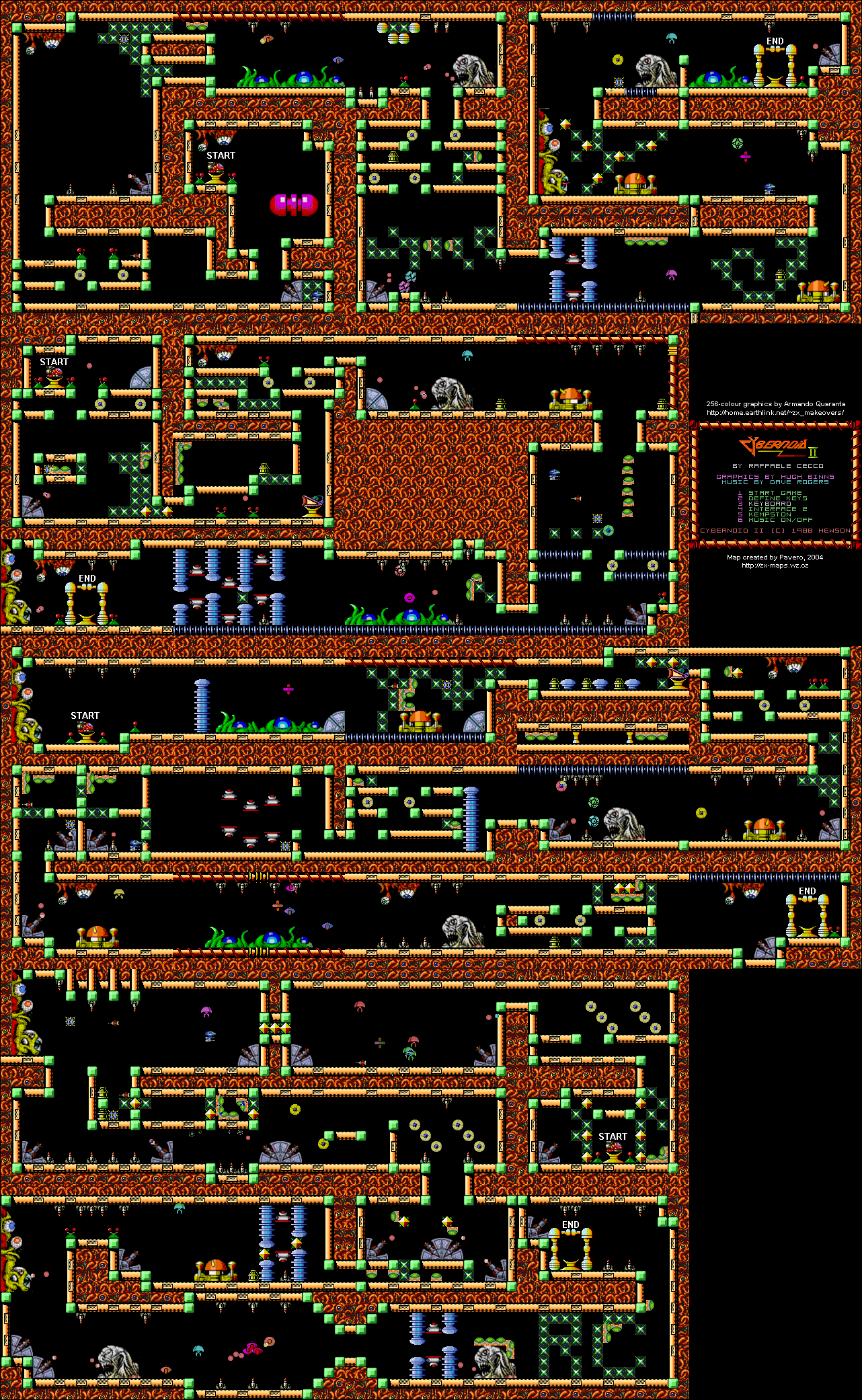 Cybernoid 2 - The Revenge (256 colours) - The Map