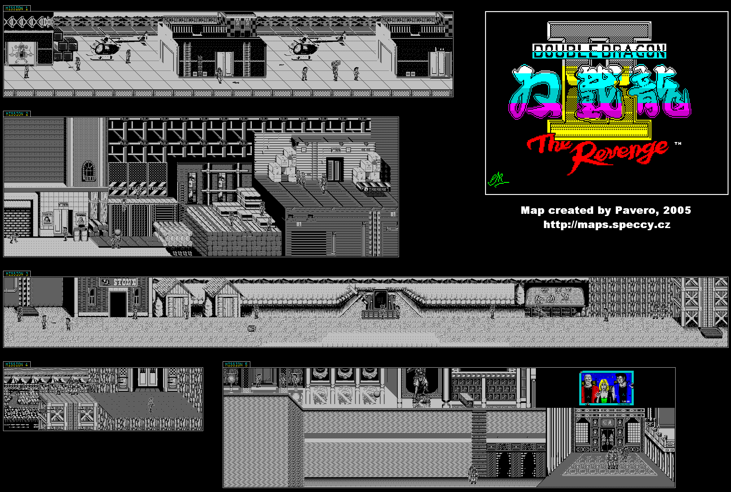 Double Dragon 2 - The Revenge - The Map