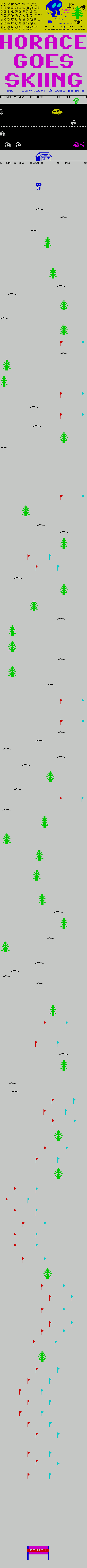 Horace 2 - Horace Goes Skiing - The Map
