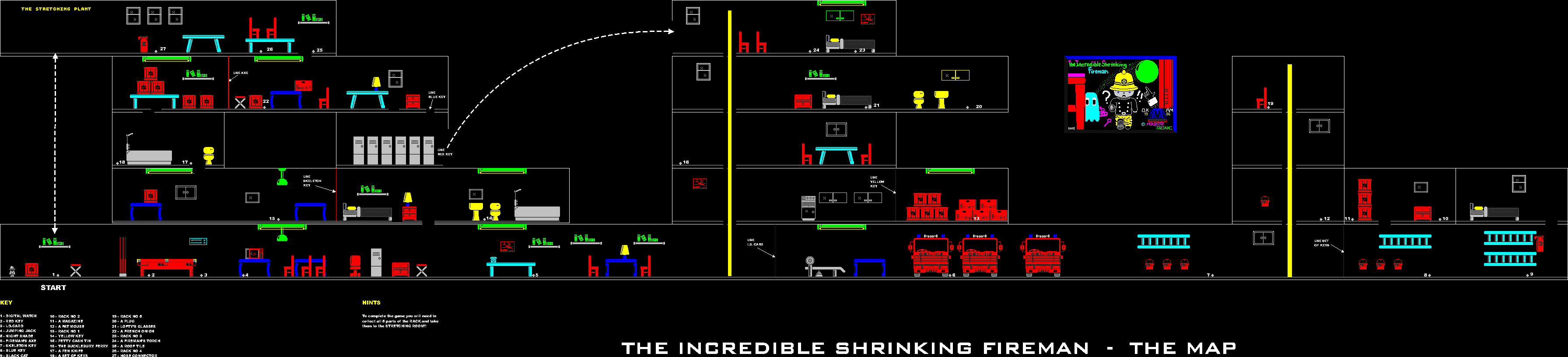 Incredible Shrinking Fireman - The Map