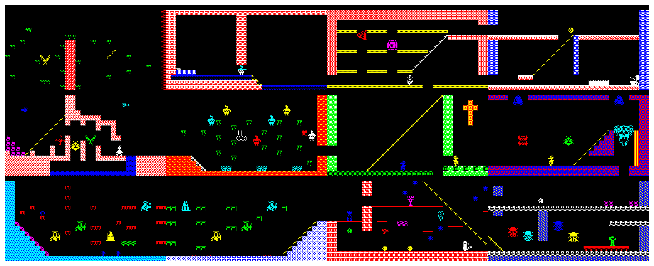 Jet Set Willy - 12 room minigame - The Map