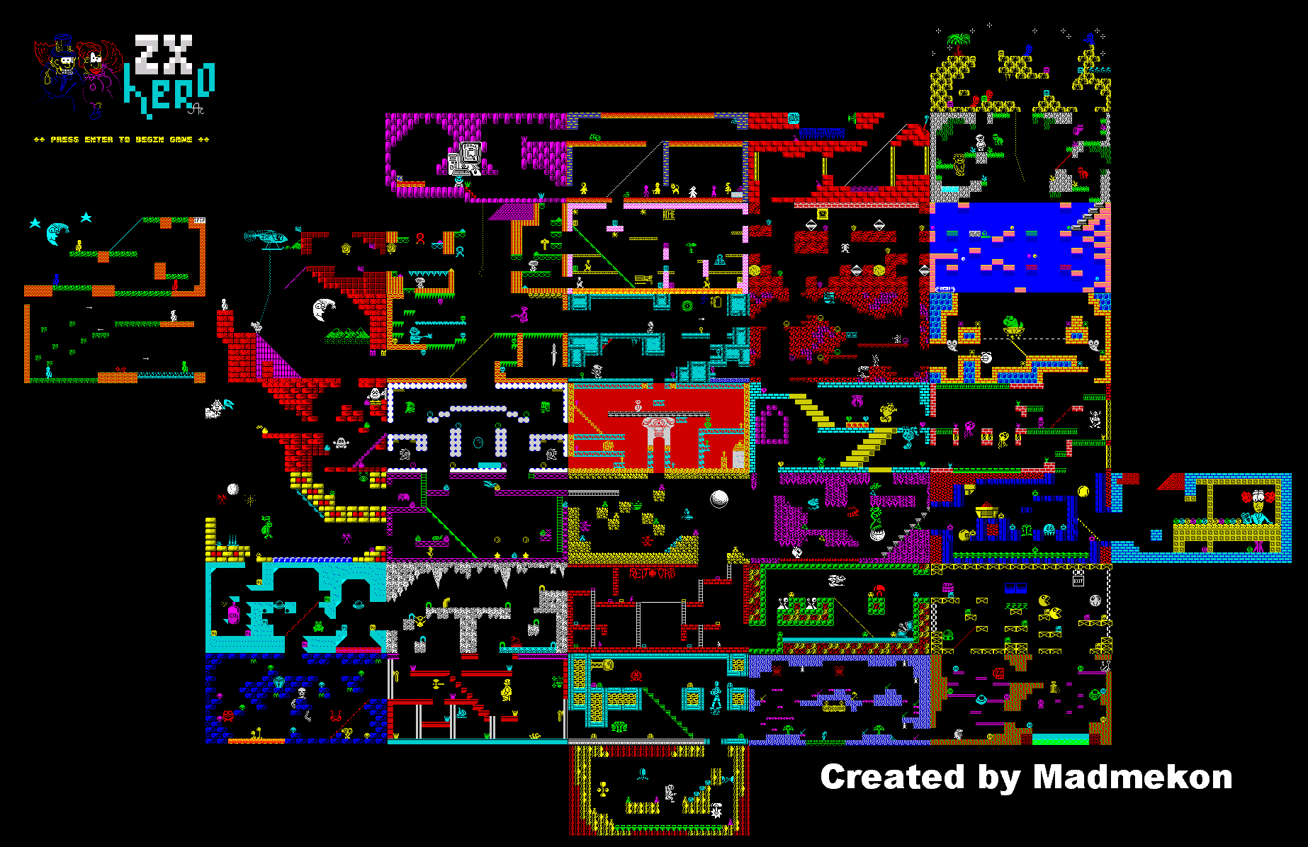 Jet Set Willy 5 - ZX Heroes - The Map Zx Map on