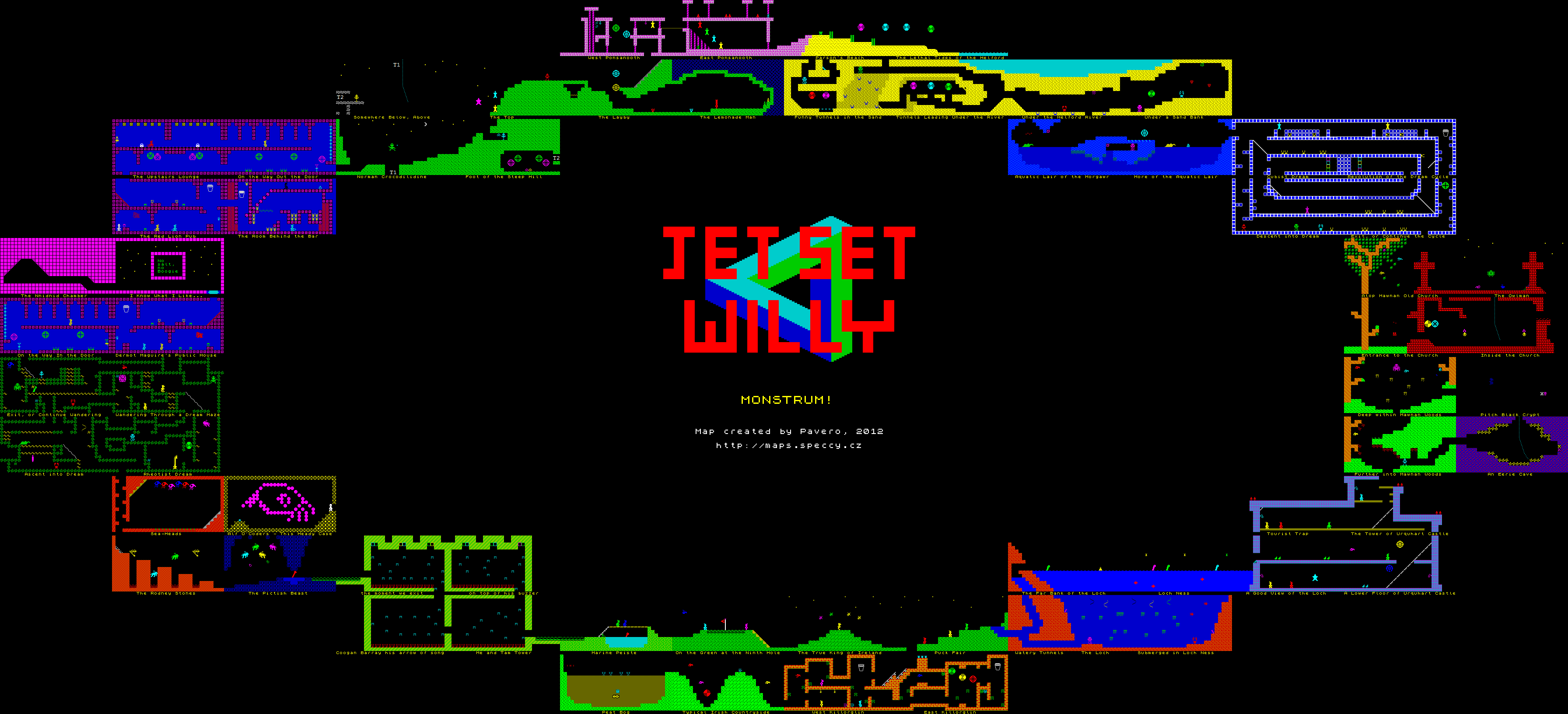 Jet Set Willy - Monstrum! - The Map