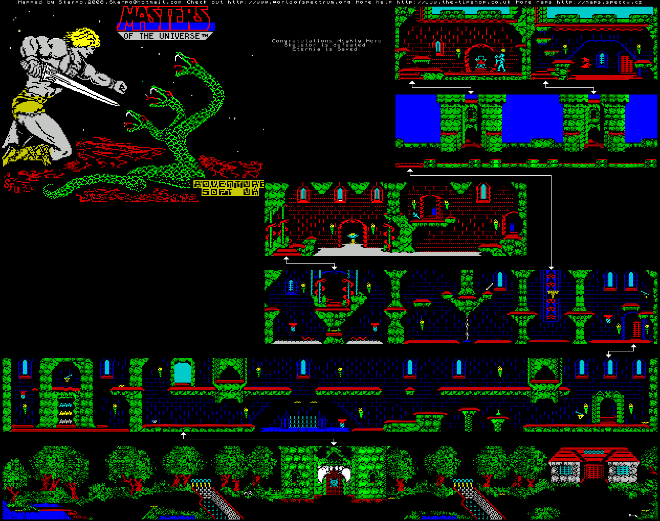 Masters of the Universe - The Arcade Game - The Map