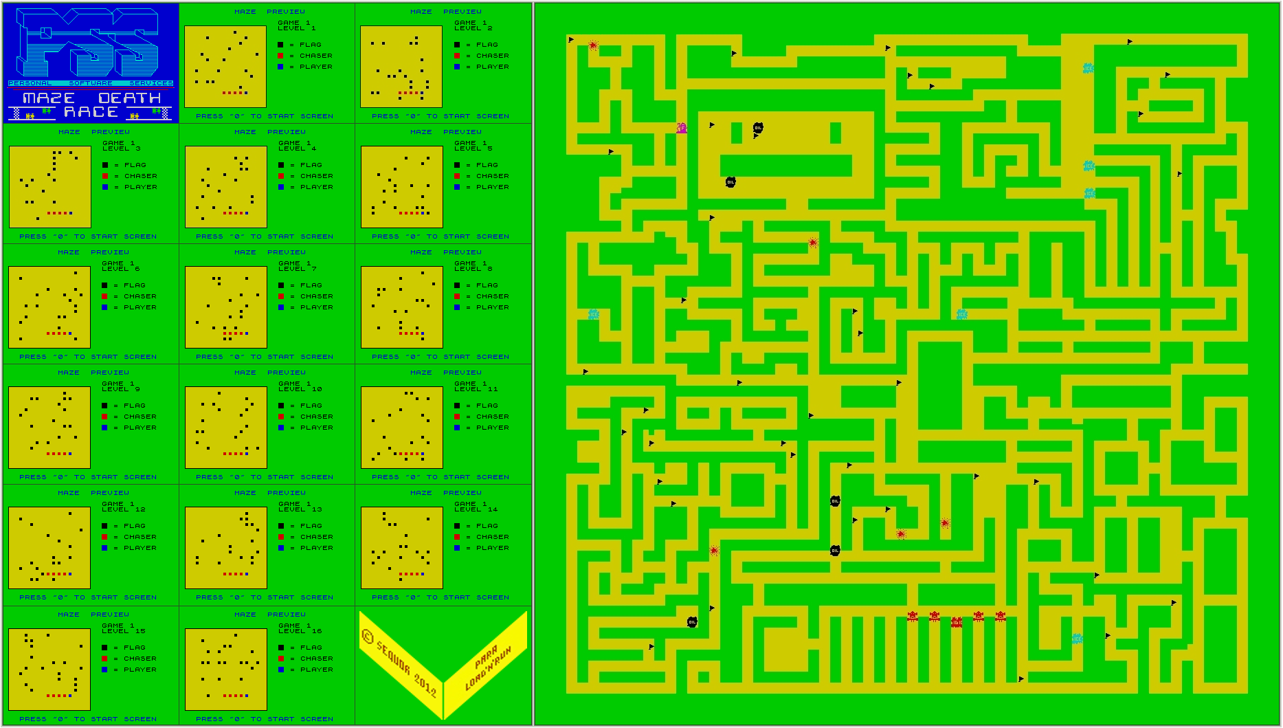 Maze Death Race - The Map