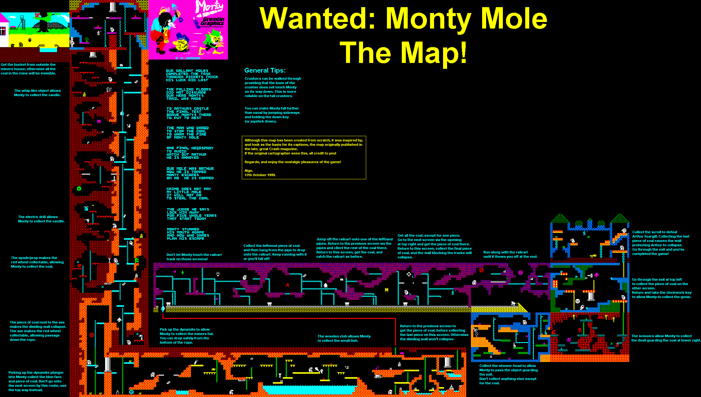Monty Mole 1 - Wanted: Monty Mole - The Map