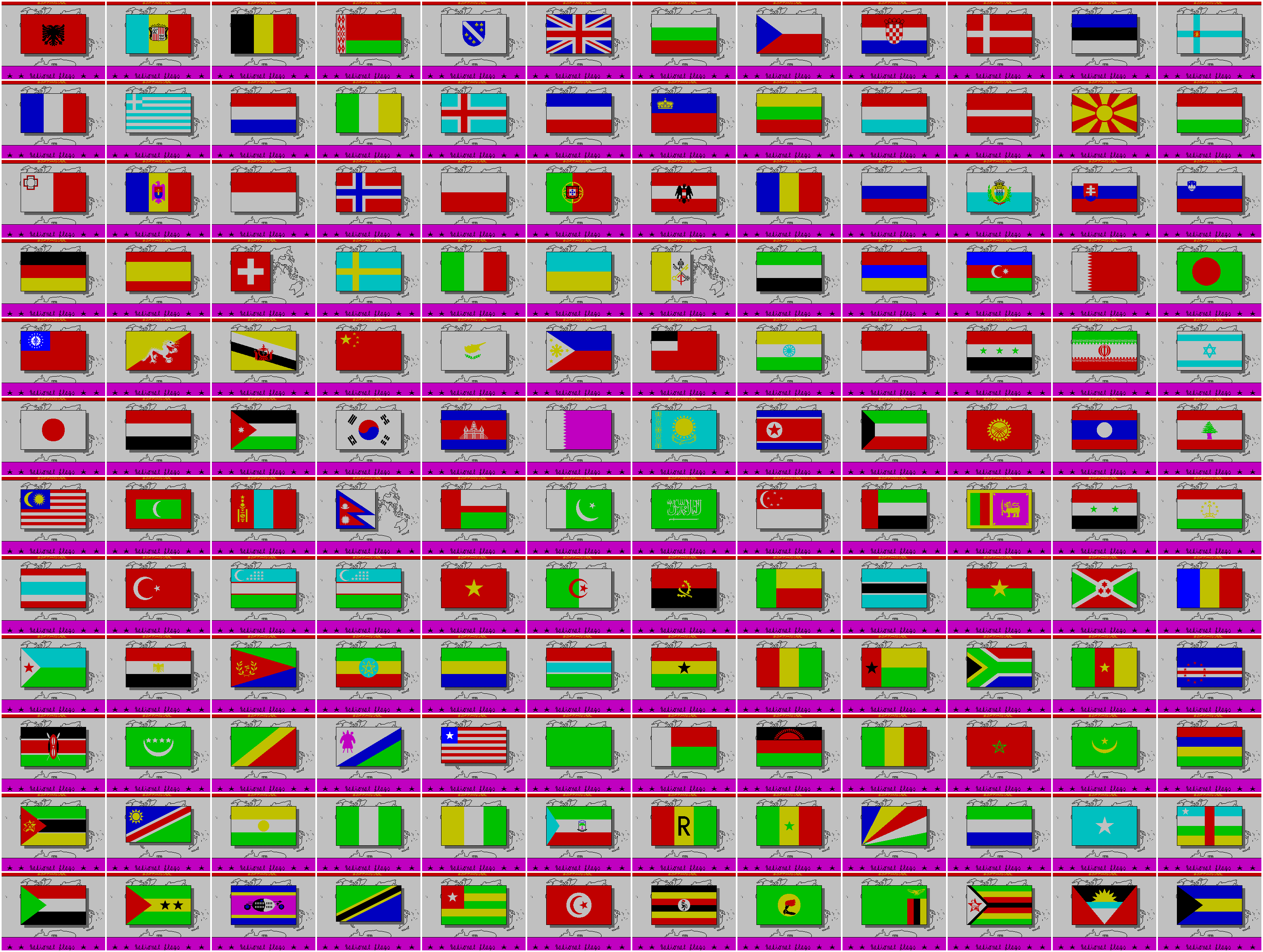 National Flags - The Map