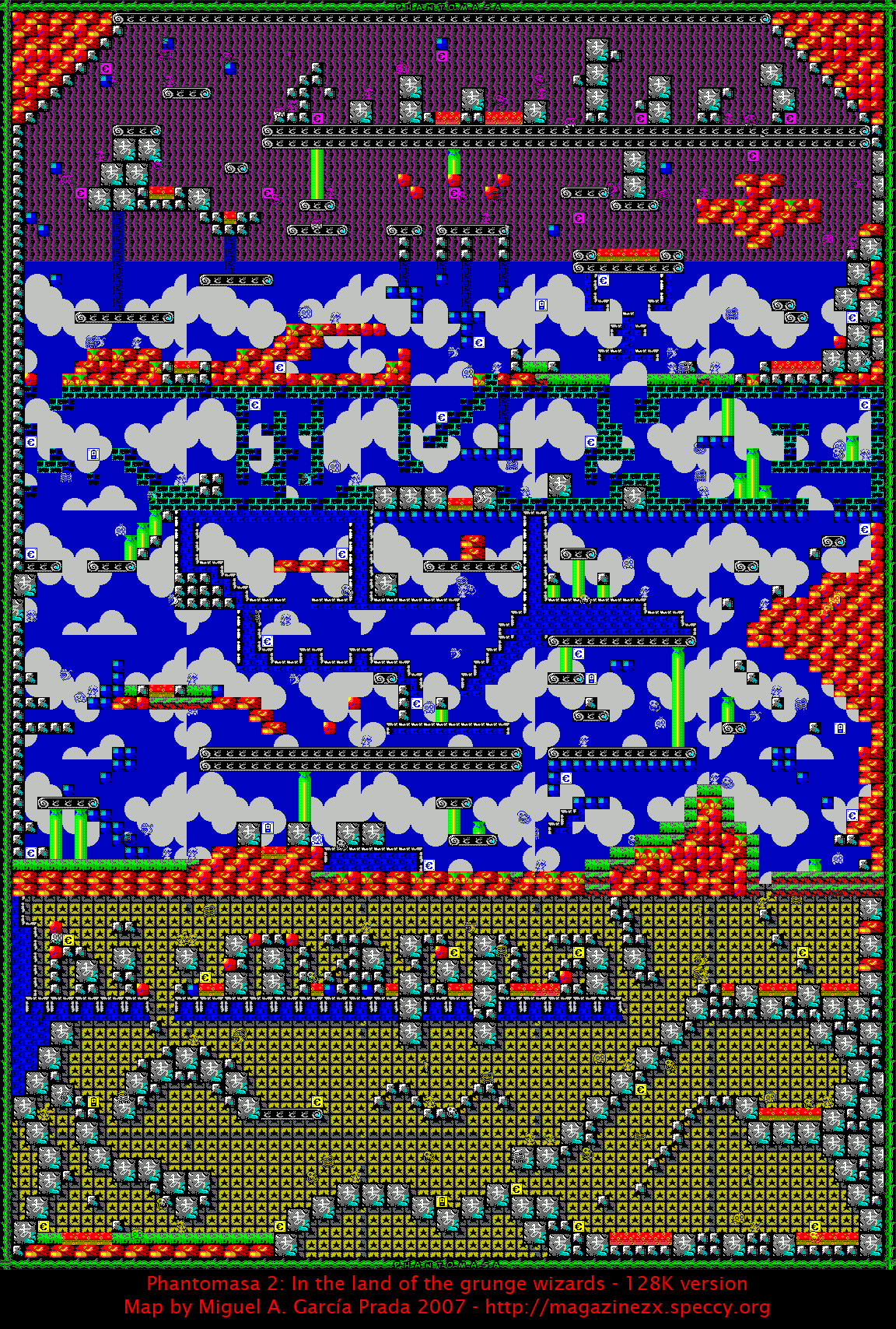 Phantomasa 2 (128K) - The Map