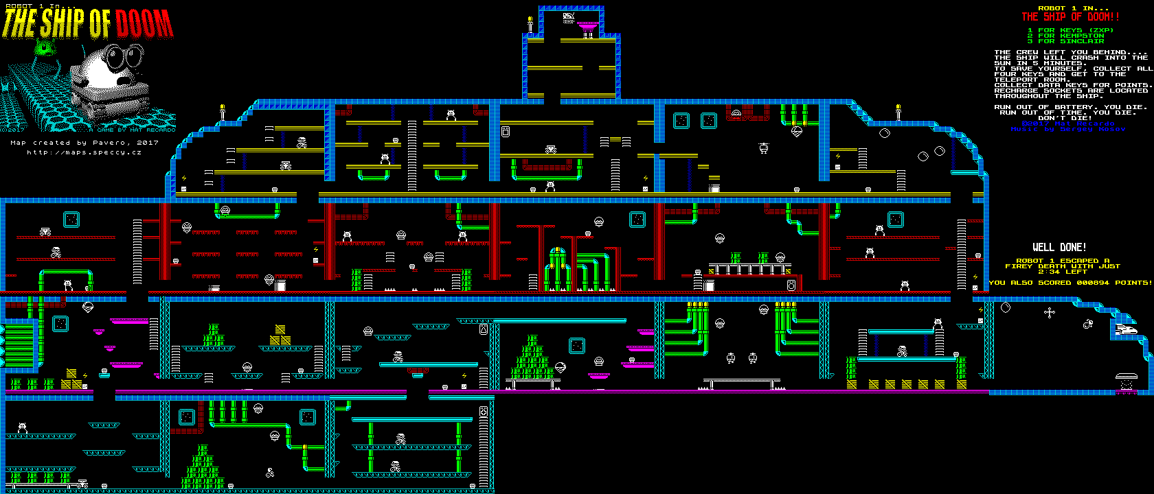 Robot 1 in the Ship of Doom - The Map