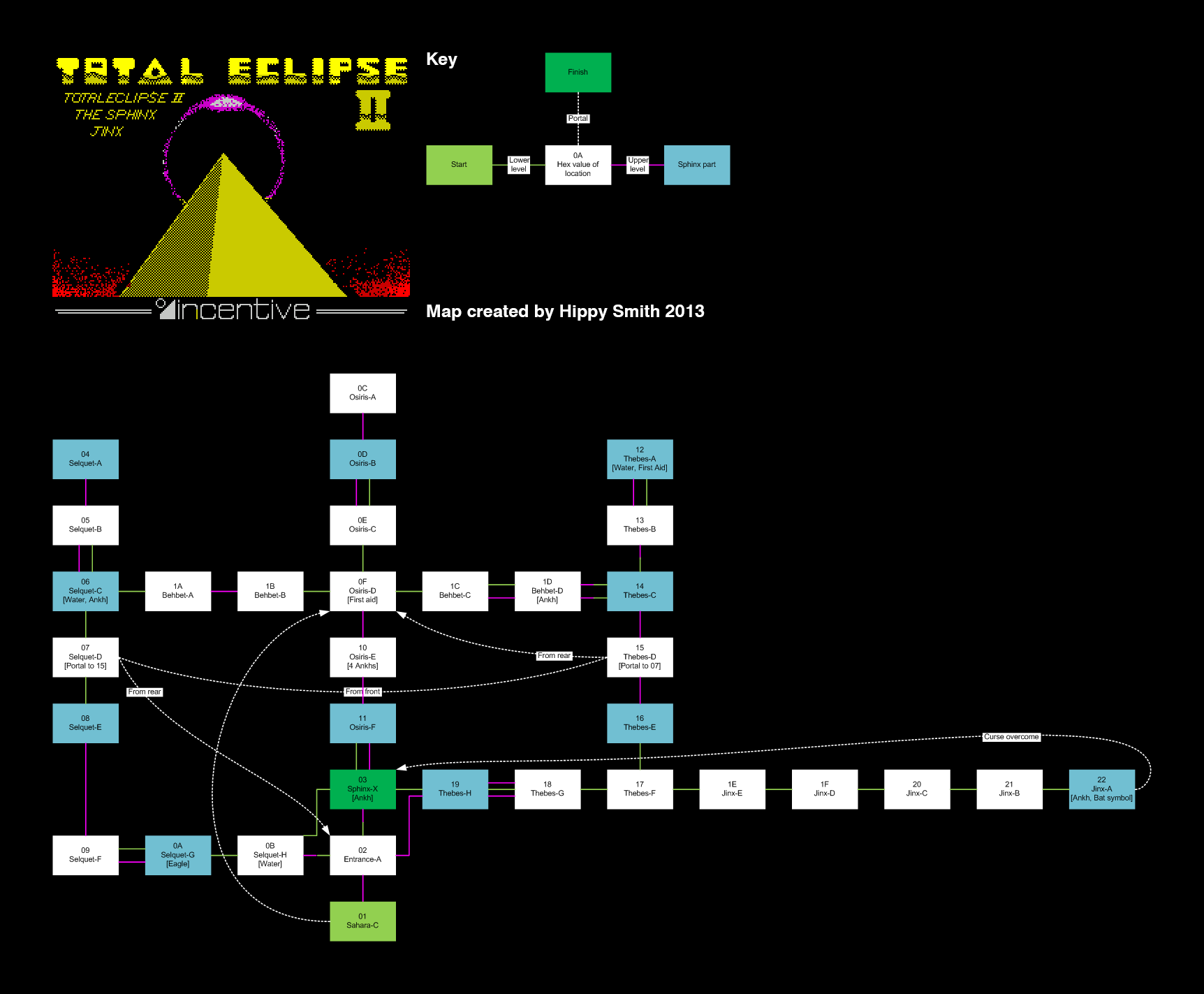 Total Eclipse 2 - The Sphinx Jinx  - The Map