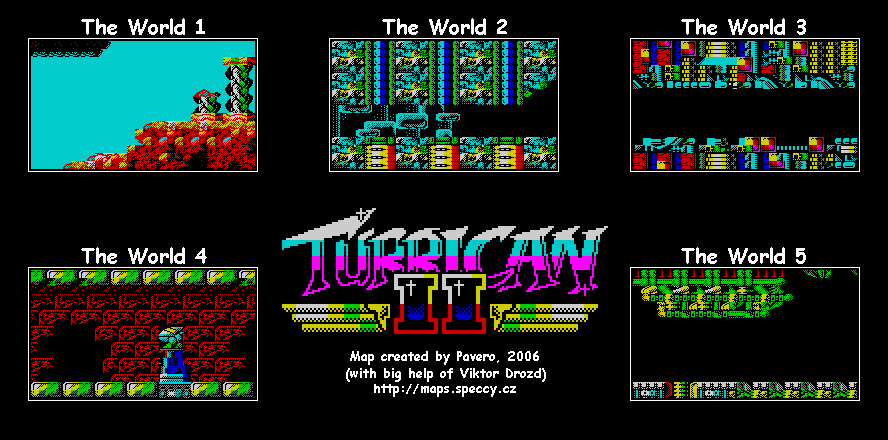 Turrican 2 (Signpost) - The Map