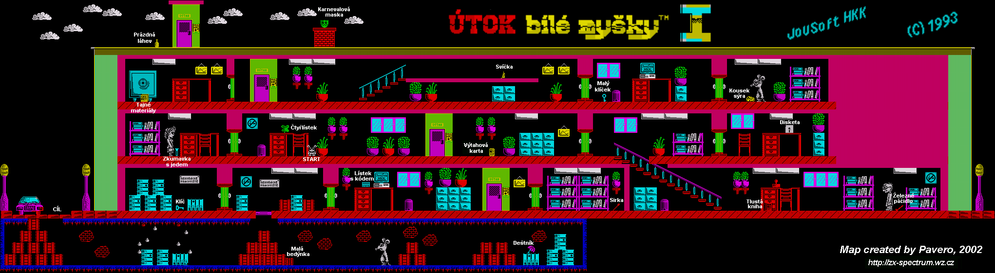 Utok bile mysky - The Map