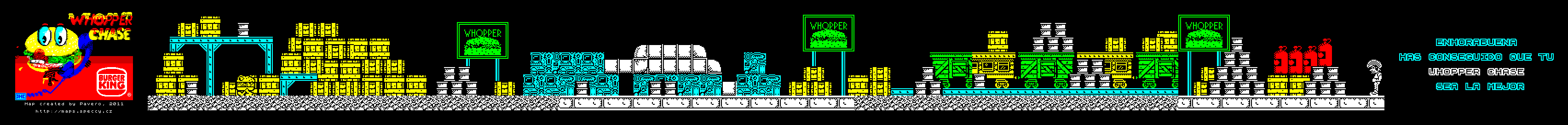 Whopper Chase - The Map