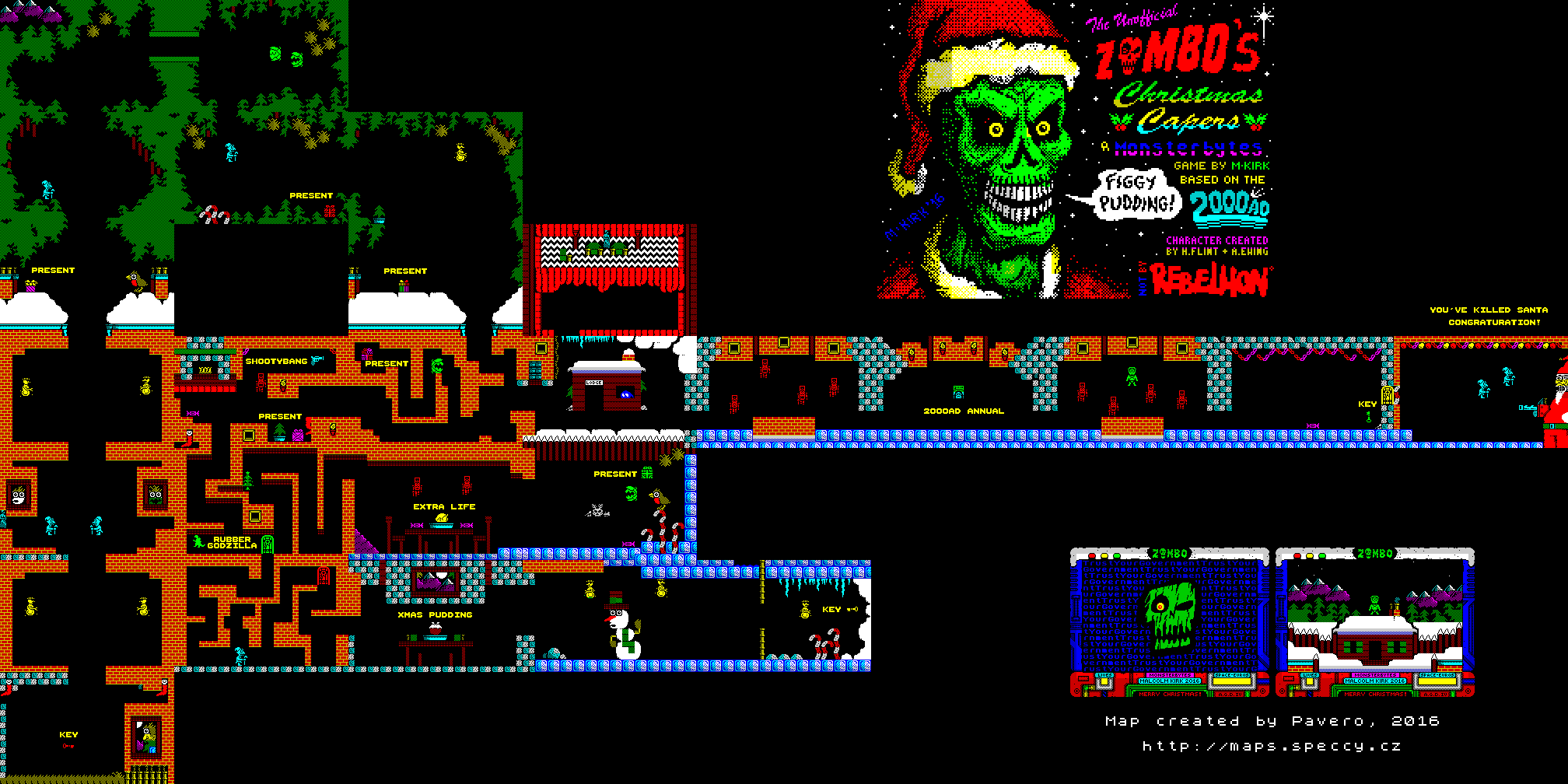 Unofficial Zombo's Christmas Capers - The Map